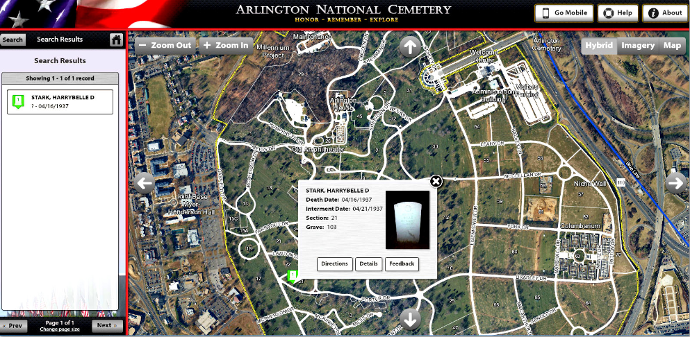A map of Arlington National Cemetery. Read more on the GenealogyBank ...