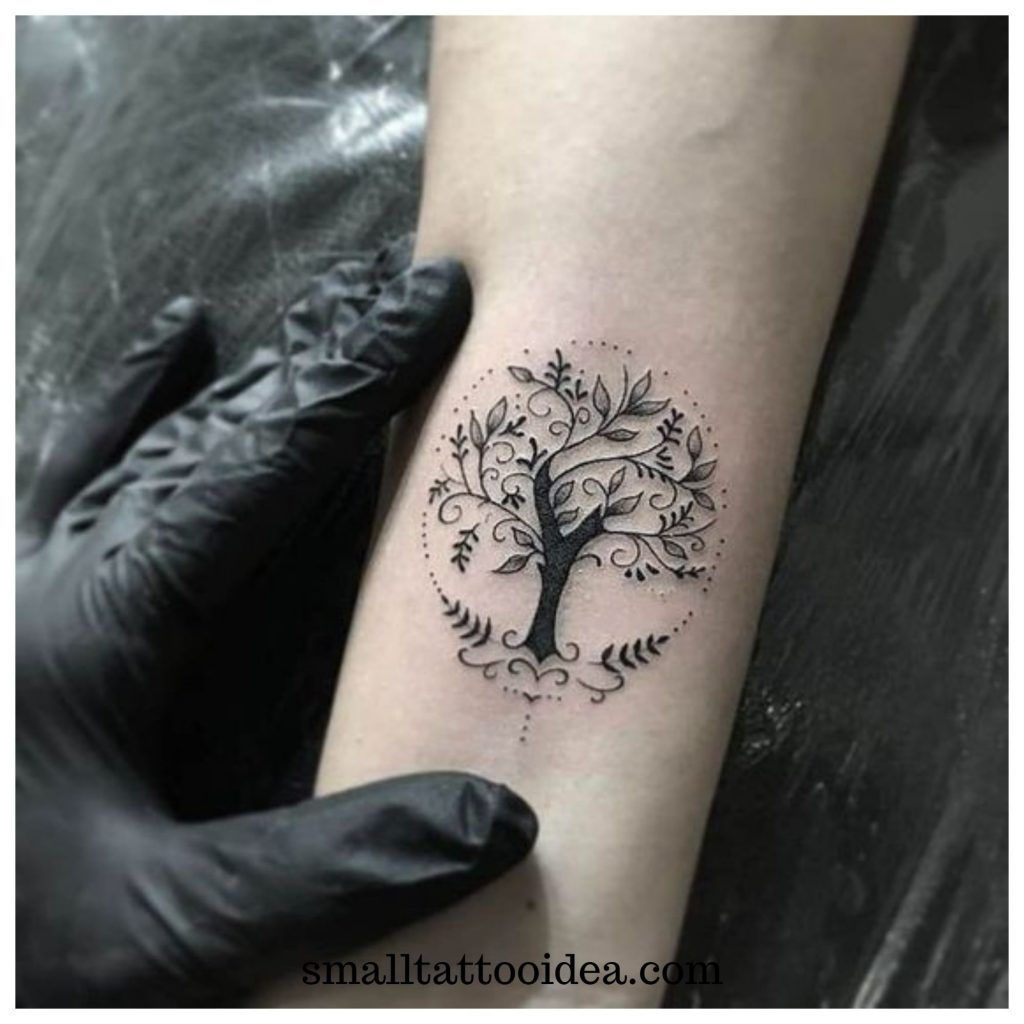 Small Tree Of Life Tattoos On Wrist Minimalist Tattoo Tattoos For Women Tattoo Designs For Women