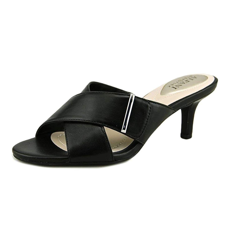 74593b8ea5a4c Alfani Womens Larrk Open Toe Casual Mule Sandals. A subtle kitten ...