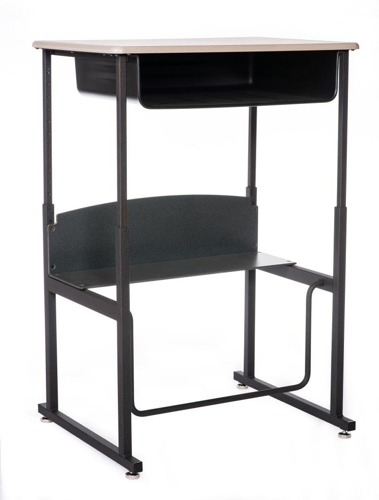 Student Desk Swing Bar Adjustable Height Sit Stand