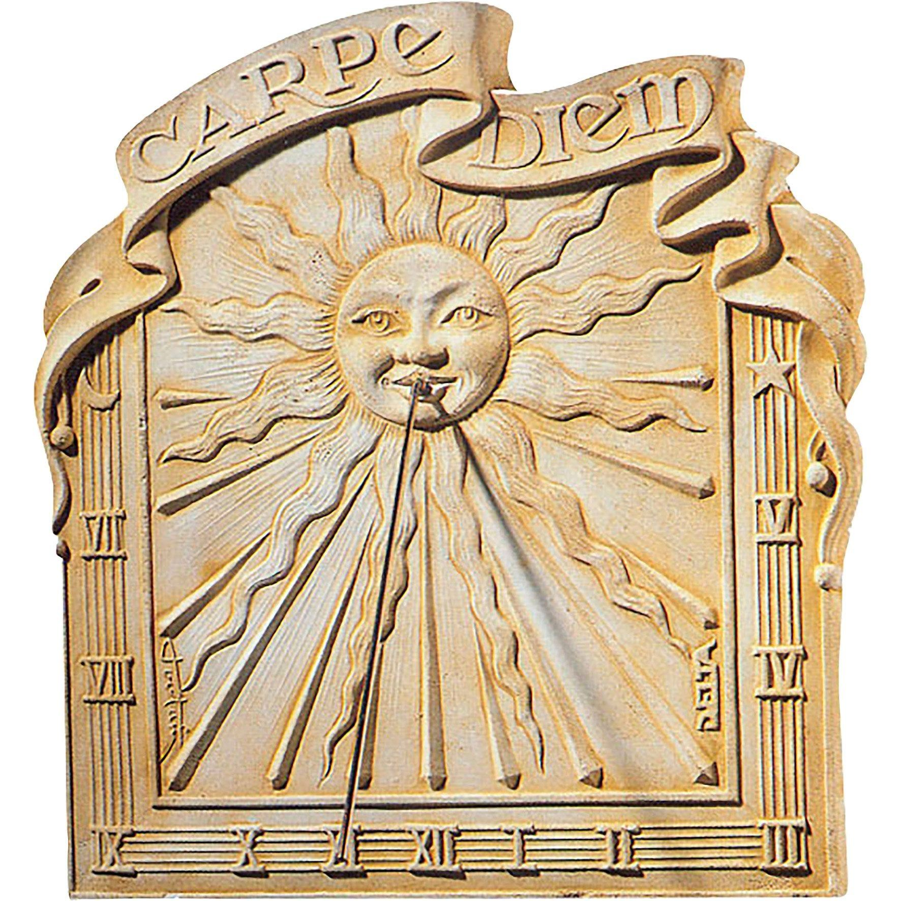 Figurine Decorative Cadran Solaire Delta Carpe Diem H60x59x5 Cm En