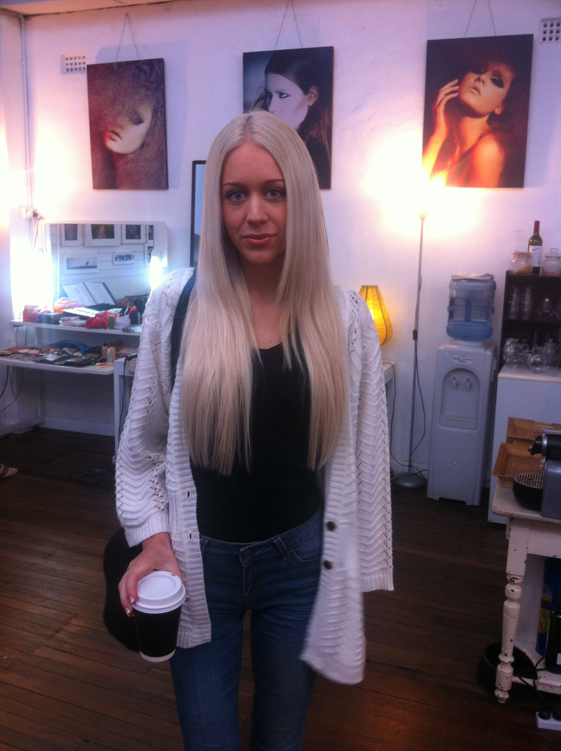 Behind the scenes at the zala hair extensions shoot model taylor buy platinum blonde 24 inch clip in hair extensions today at zala over of 24 inch human hair free post on all clip hair extensions australia wide pmusecretfo Gallery