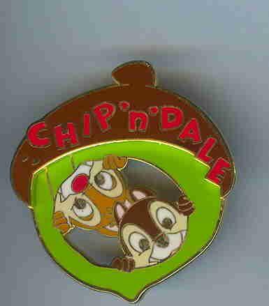 Disney Store JAPAN Pin Chip /& Dale Acorn 3D Dale