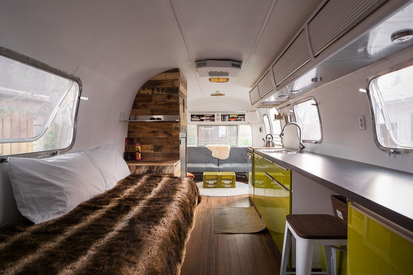 An airstream of his own portable house home renovation
