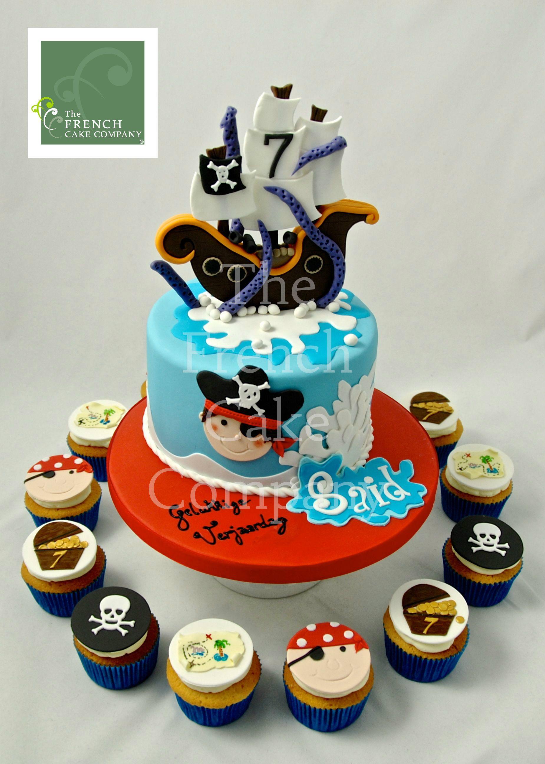 Childrens Birthday Cake Pirate - Gateau D'anniversaire Pour Enfants - Garçon Pirate - Verjaardagstaart