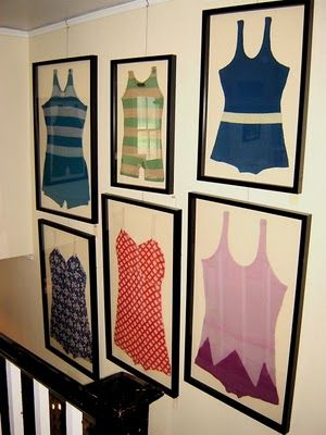 Lake House Wall Art vintage bathing suit wall artcute beach or lake house decor