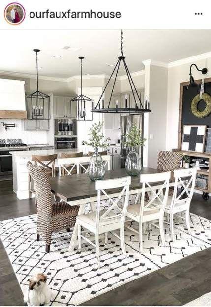 26 Ideas Farmhouse Style Livingroom Open Floor Home Plans Farmhouse Style Living Room Dining Room Floor Farmhouse Dining Room