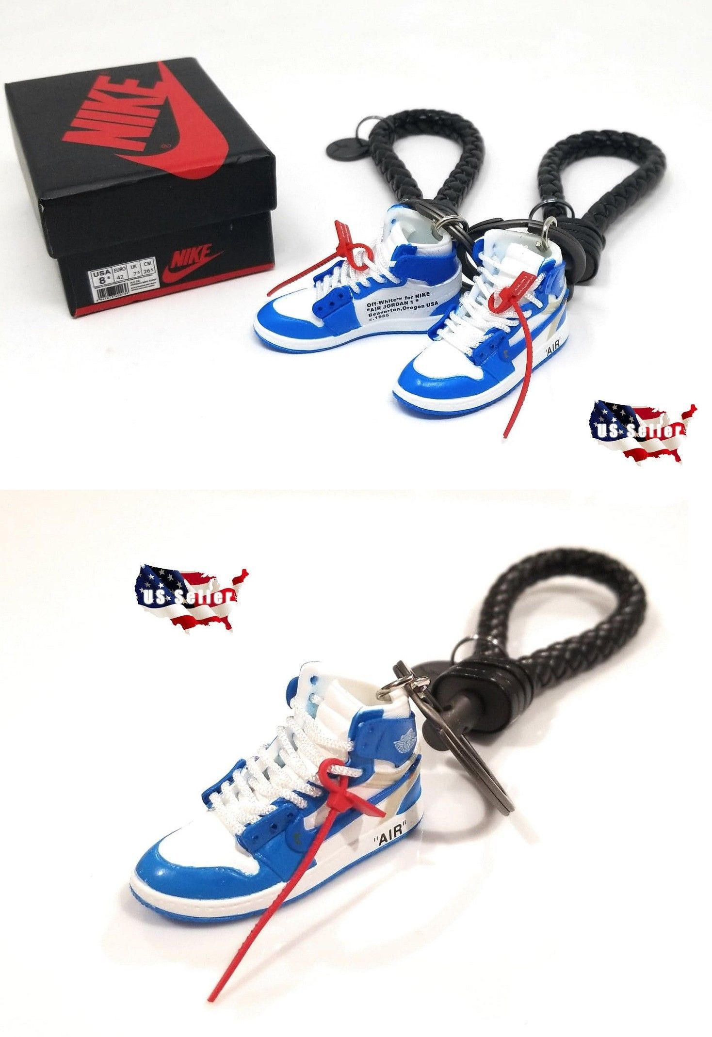 Key Chains Rings and Cases 52373  Air Jordan 1 Off White Unc - 3D Sneaker  Keychain - Single Gift Set - New -  BUY IT NOW ONLY   27.99 on  eBay   chains ... dea58942f