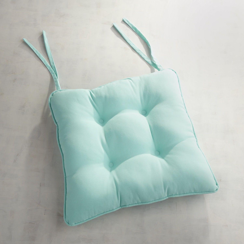 Square Bistro Dining Cushion In Cabana Aqua Turquoise Outdoor Dining Chair Cushions Dining Chair Cushions Dining Room Chair Cushions