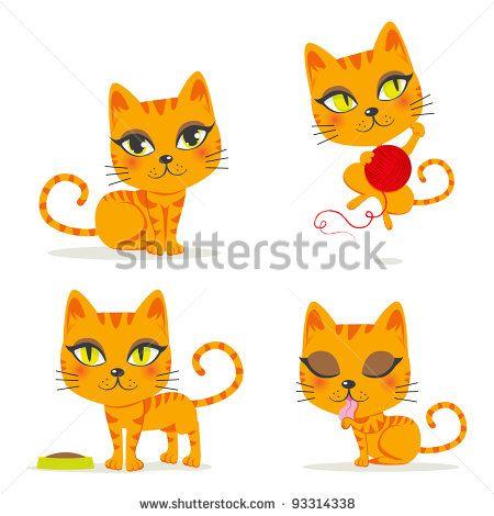 Cartoon Cats Google Search Cat Clipart Cat Vector Cartoon Cat