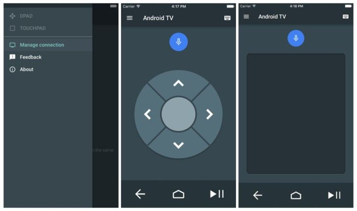 Google outs Android TV remote app for iOS Smart tv, Tv