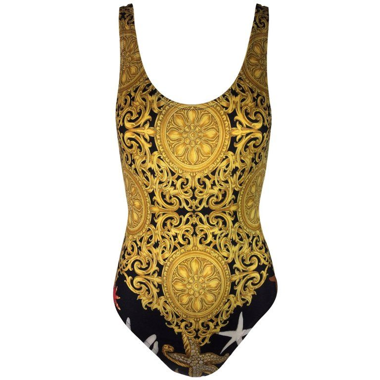 a805950dd3 Gianni Versace S/S 1992 Baroque Starfish Bodysuit Swimsuit 40 in ...