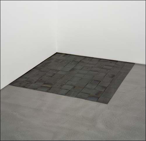 Carl Andre Critique Iron Paris 3e Galerie Yvon Lambert Art Moderne Art Minimalisme