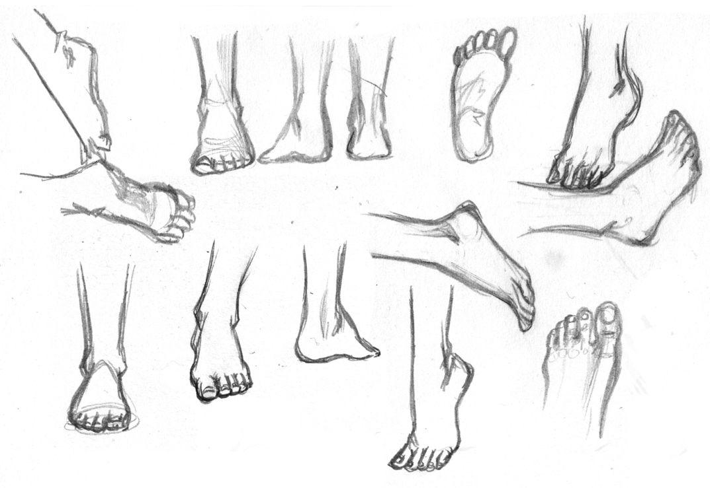 Anime füße zeichnen