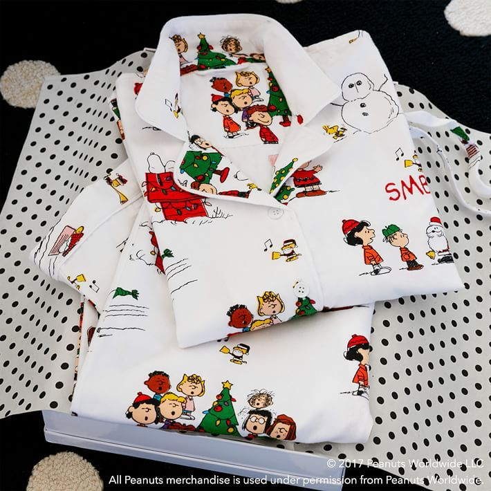 Peanuts 174 Organic Flannel Pajama Set With Images