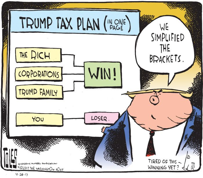 Image result for trump tax plan cartoon