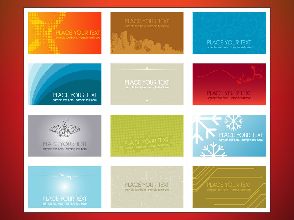 Business Cards Templates Free | This set of horizontal business ...
