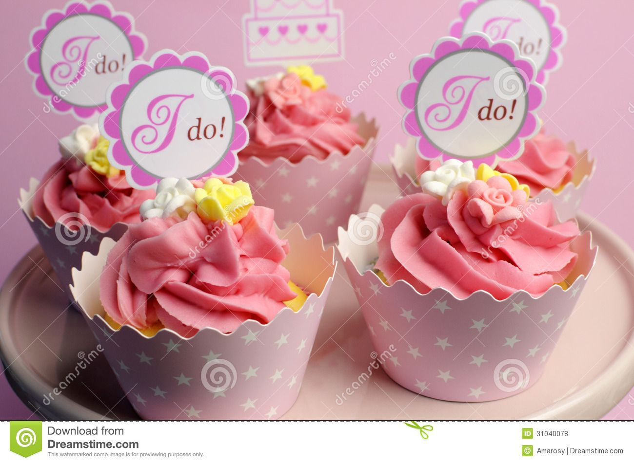 craft paper banner toothpicks for bridal shower cupcakes - Google ...