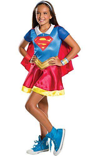 Rubies Costume Kids DC Superhero Girls Supergirl Costume Small - halloween costume girl ideas