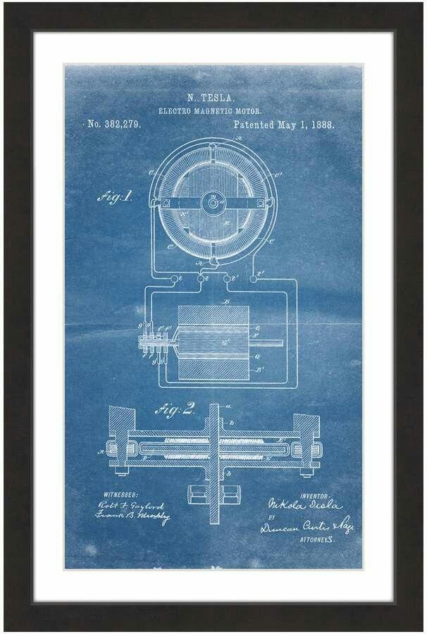 Tesla motor 1888 blueprint symbolism pinterest tesla motors tesla motor 1888 blueprint malvernweather Images