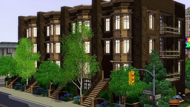 Awesims Brownstone Apartments Quality Sims 3 S From