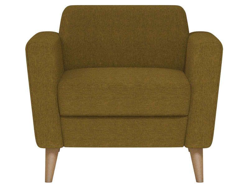 fauteuil en tissu ikonn coloris vers anis pas cher c 39 est sur large choix. Black Bedroom Furniture Sets. Home Design Ideas