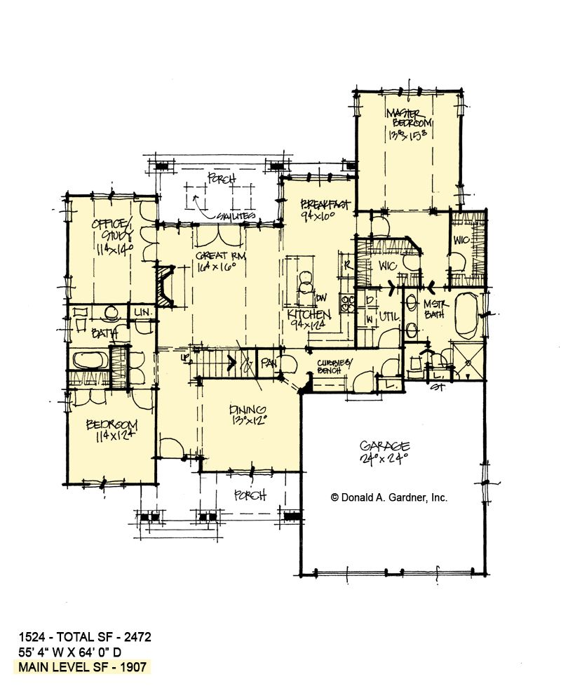 House Plan 1524 Two Story Cottage Two Story House Plans House Plans House Floor Plans