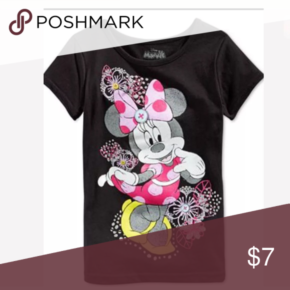 Disney T-Shirt Disney little Girl Minnie Mouse Flowers T-Shirt size 5 . Material: 100% cotton Disney Shirts & Tops Tees - Short Sleeve