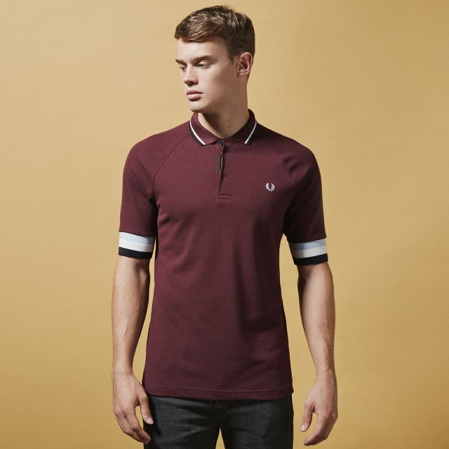 fef51c45 Fred Perry Bradley Wiggins Bomber Cuff Polo Shirt | Fred Perry ...