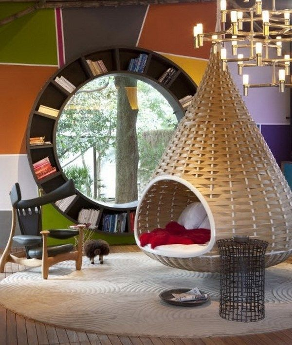 Hanging Chair For Bedroom Interesting Chaises Suspendues Décoration Et Relaxation   Hanging Chairs Design Inspiration