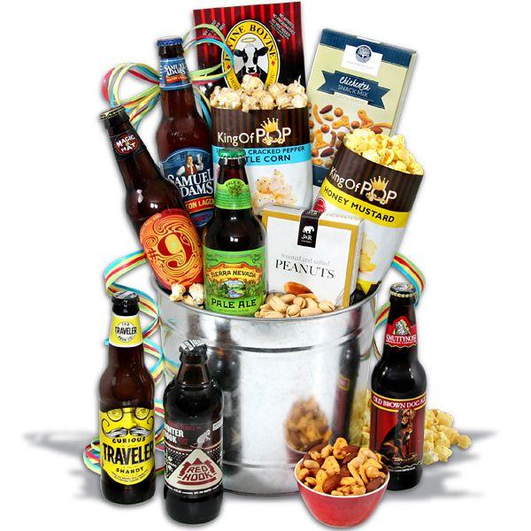 microbrew beer bucket gift basket - 6 beers | hadiah, minuman, dan bir, Ideas
