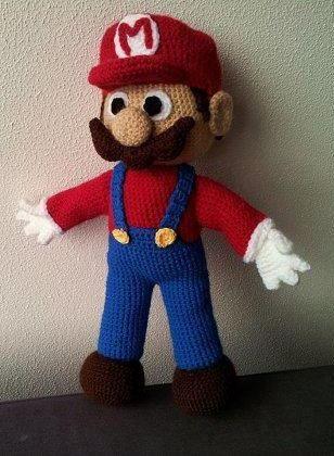 Mario Inspired Large Amigurumi Pattern Amigurumi Pinterest