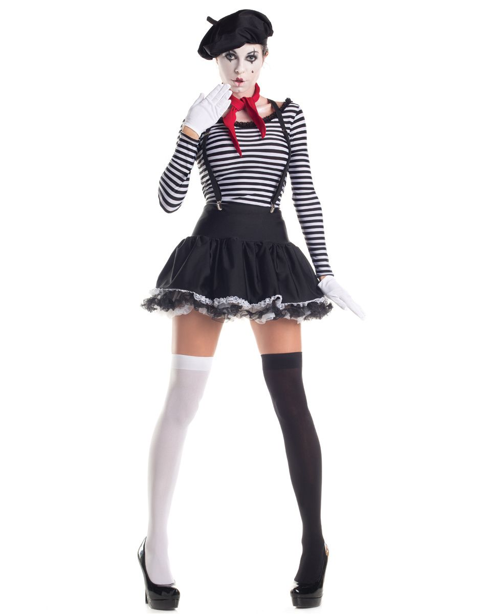 Mesmerizing Mime Adult Womens Costume | circo | Pinterest