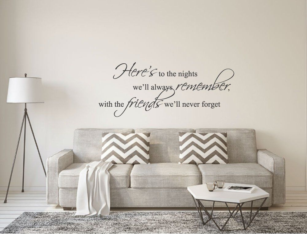 Friends Wall Sticker Quote Friends Wall Decal Friends Wall Etsy Wall Stickers Living Room Wall Stickers Quotes Wall Stickers Bedroom #wall #art #sayings #for #living #room