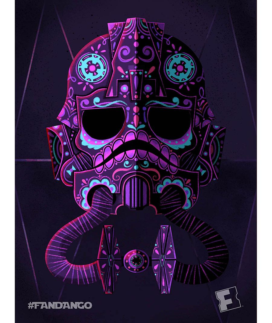 Exclusive Artwork Star Wars Day Of The Dead Fandango Star Wars Painting Star Wars Art Star Wars Poster