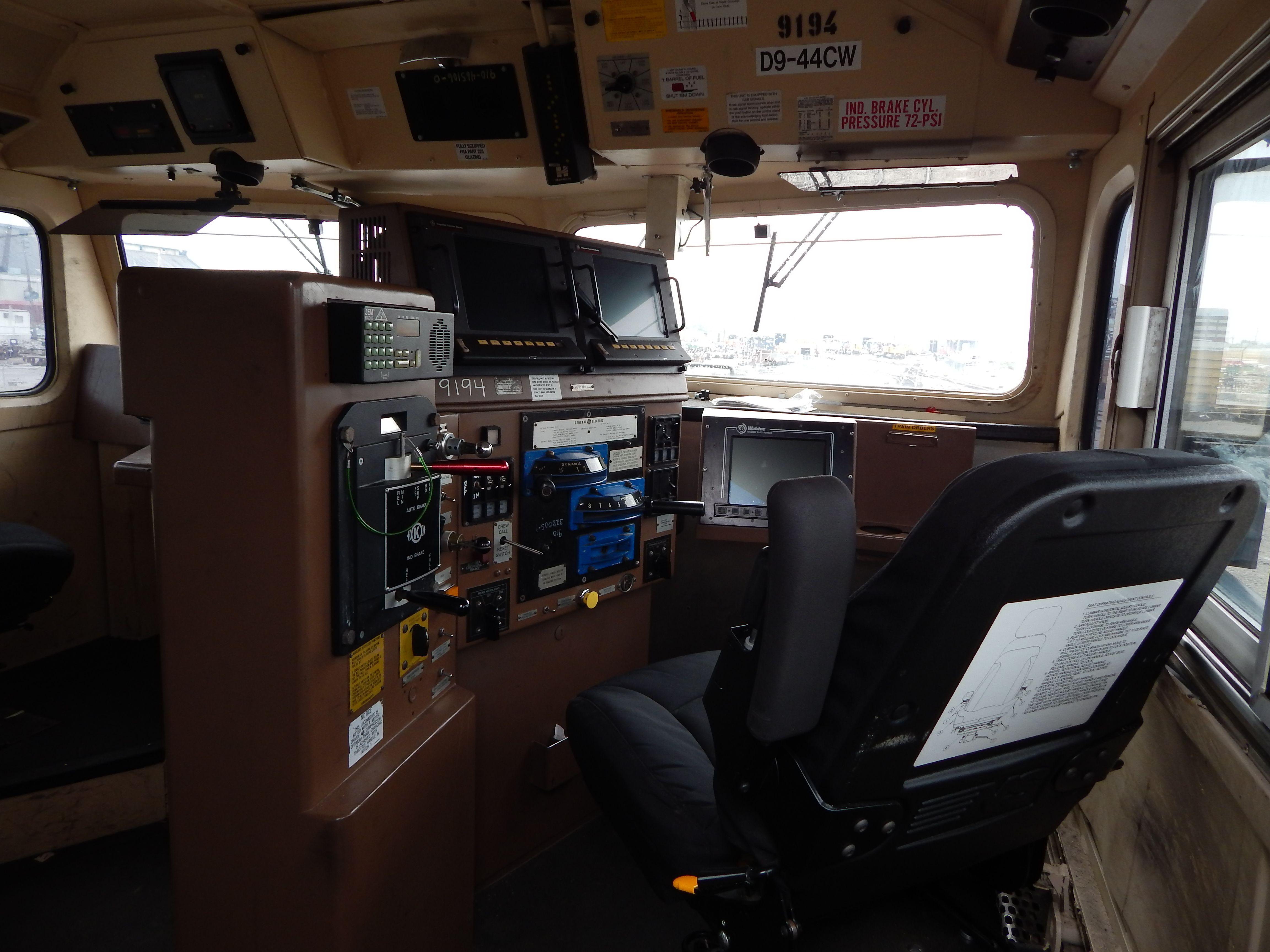 A Ge Locomotive Inside
