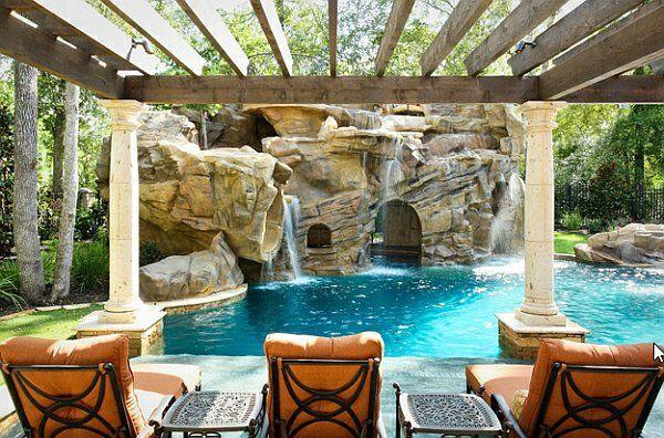 Garten mit pool gestalten  Garten mit Pool gestalten - 20 traumhafte Gartenpools als ...