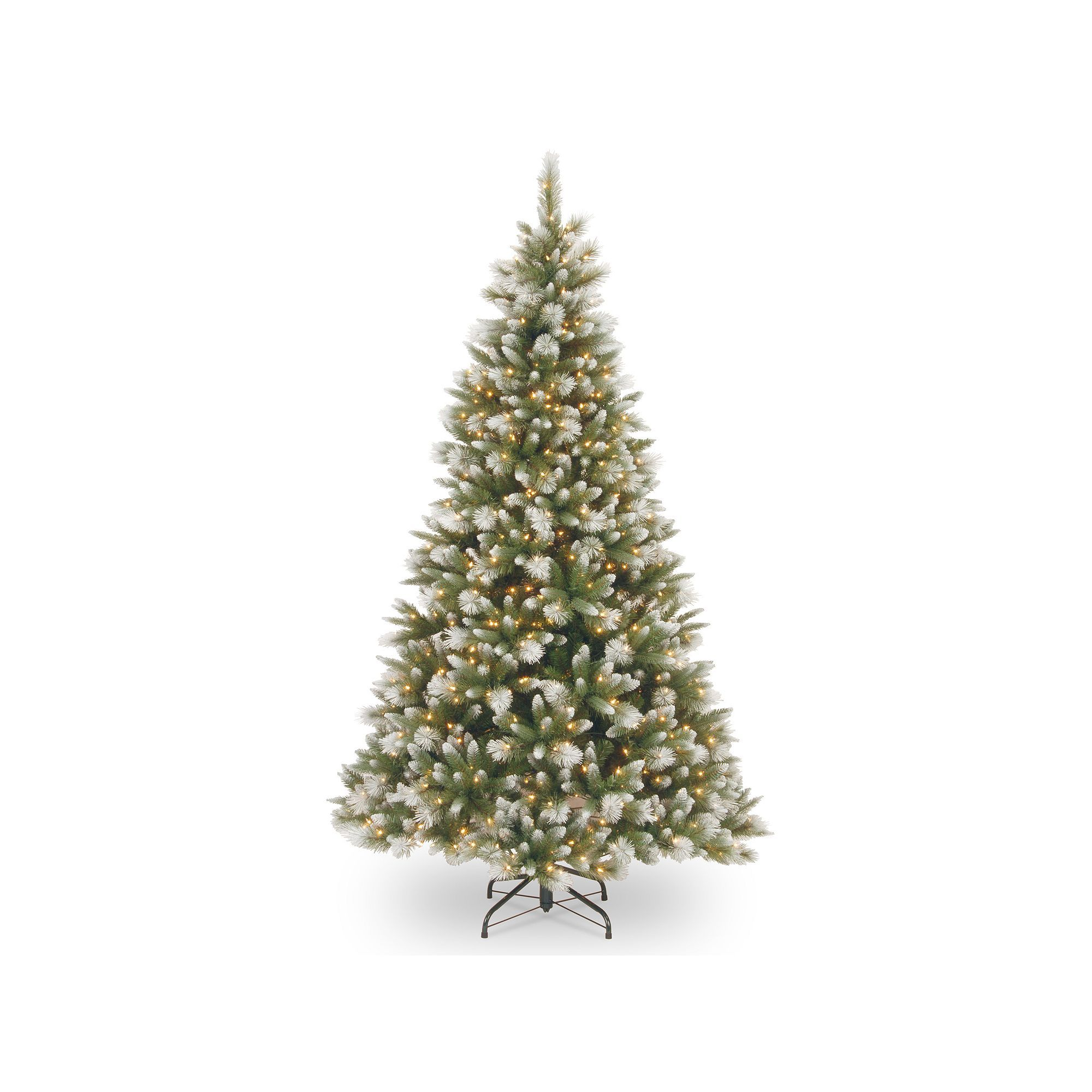 National Tree Company 7.5ft. Frosted Alaskan Pine PreLit