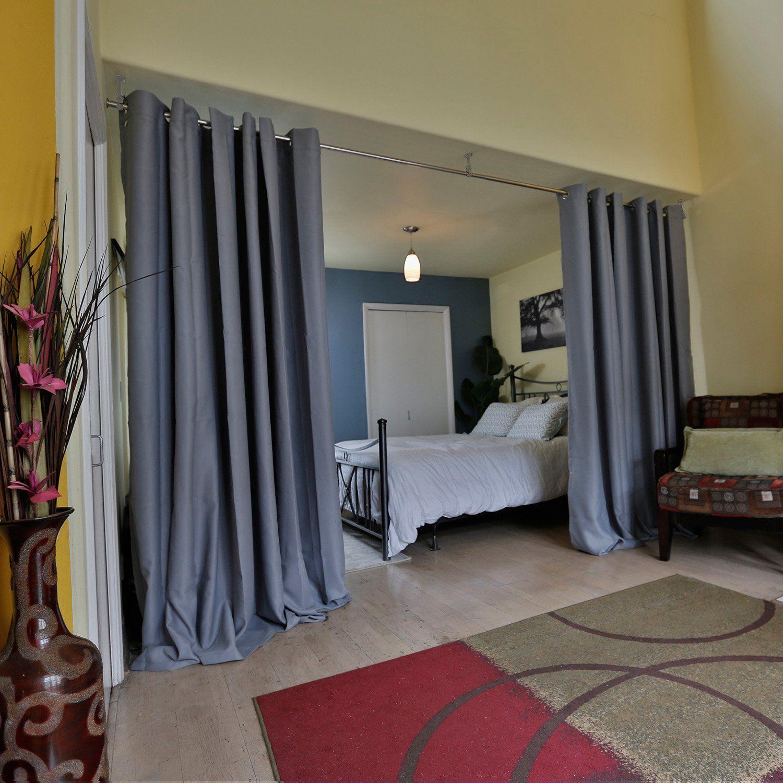 Roomdividersnow premium heavyweight hanging room divider kit large