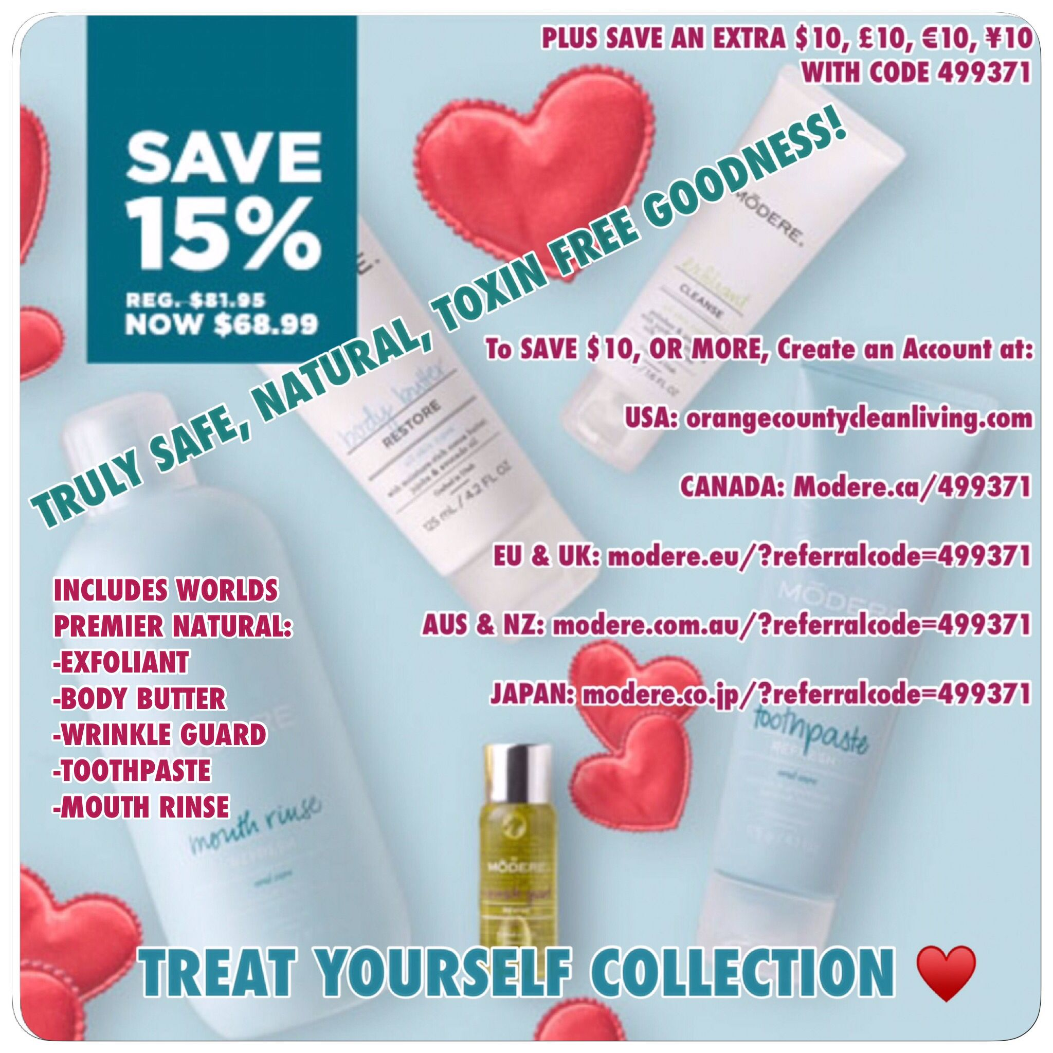 Save 15 & Extra 10 Natural Body Care, The Treat