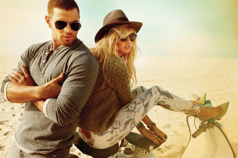 Kate Upton Is a Beach Babe for Dylan George and Abbot and Mains Fall 2012 Campaigns