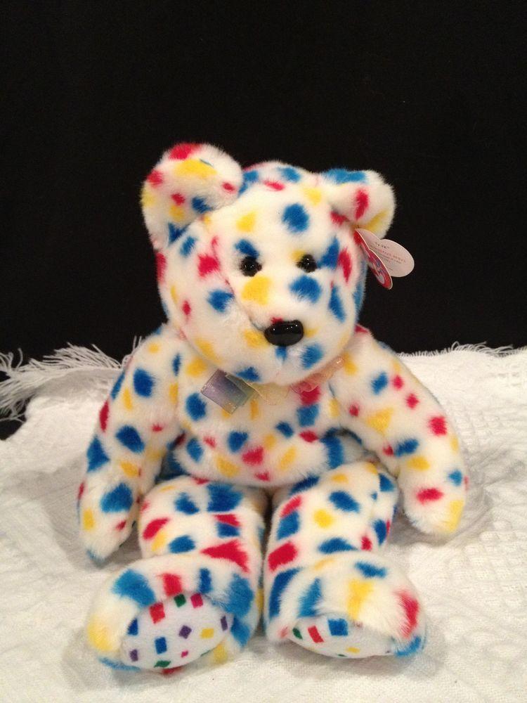 TY beanie BUDDY~ ORIGINAL ~ RETIRED ~TEDDY ~ TY 2K confetti bear ~NWMT ~  MINT  Ty 0d4c49c8b5