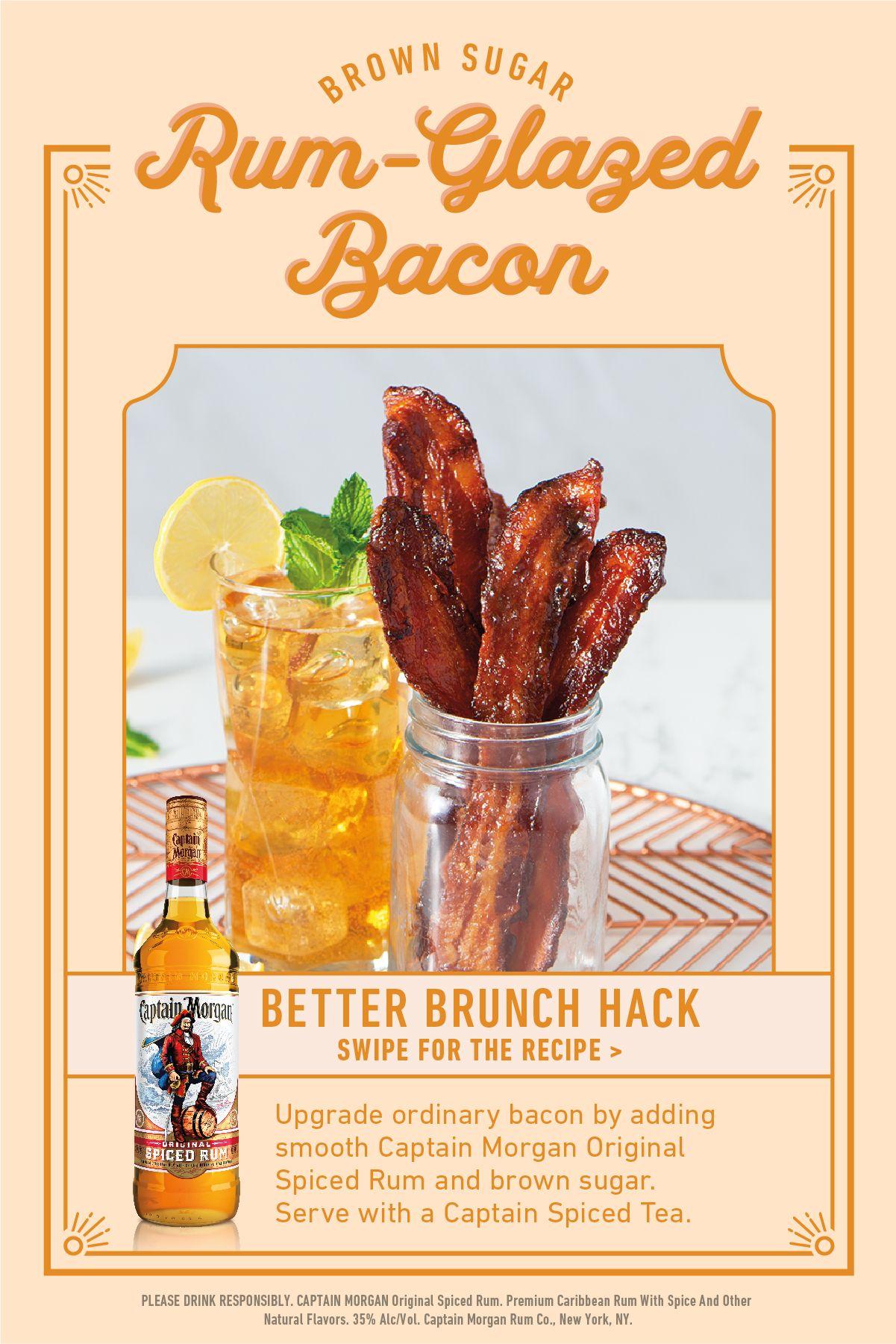 Captain Morgan Rum-Glazed Bacon Recipe