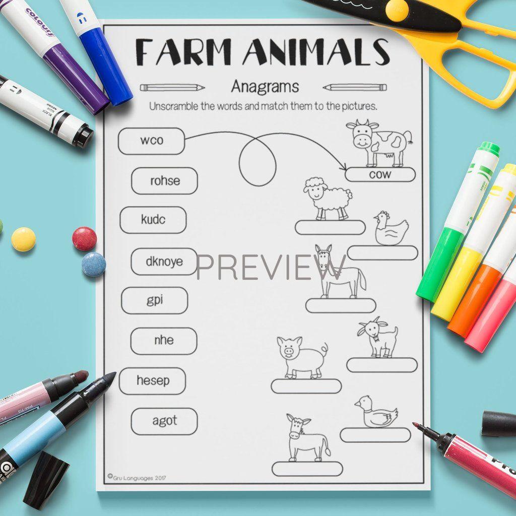 Farm Animals Anagrams