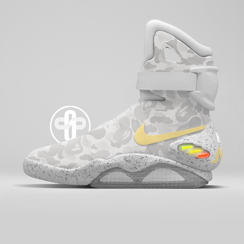 Bape x Nike MAG White Camo