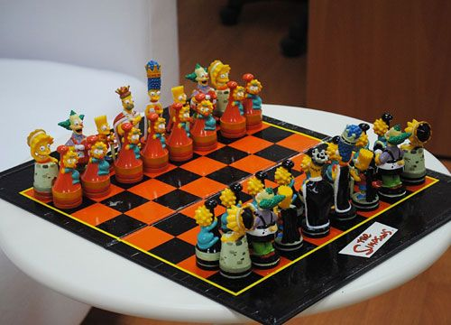 Simpsons Chess Board Funny Bizarre Amazing Pictures Videos Chess Board Chess Learn Chess