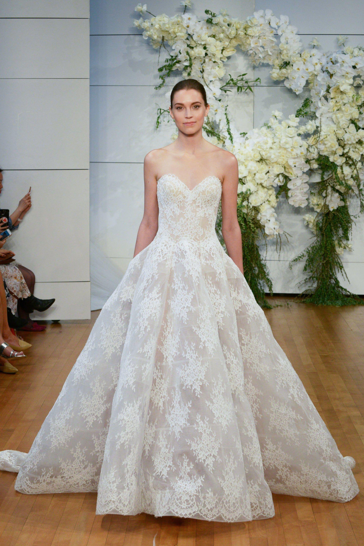 Monique lhuillier bridal spring 2018 fashion show junglespirit Images