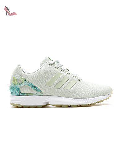 san francisco a746b 08106 adidas ZX Flux W chaussures linen green ftwr white - Chaussures adidas  originals (