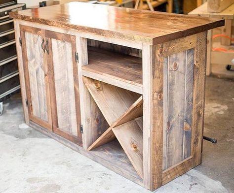 Rustic Bar Wine Liquor Cabinet Dry Storage Free Ship