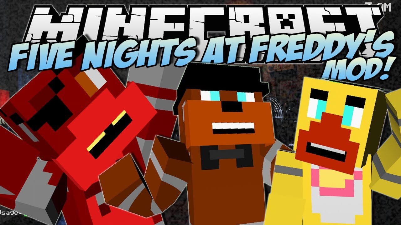 Minecraft Five Nights At Freddy S Fnaf Mod Scary Animatronics Mod Showcase Minecraft Mods Minecraft 1 Dantdm
